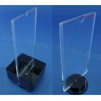 China Black Acrylic Table Tent Sign Holders on sale