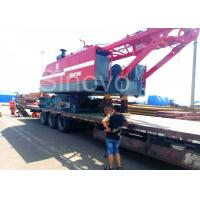 China Red color low ground pressure and max 100T Lifting capacity Hydraulic Crawler Crane CQUY100I wholesale