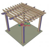 Buy cheap DIY wood plastic composite pergola Construction for garden / 4mx4mx3m / OLDA-5001B product