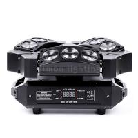 Buy cheap Home Party 3x3 9pcs 12w RGBW 4in1 Mini LED Spider Beam DMX Wash Moving Lights product