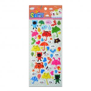 Buy cheap Umbrella Animals Cute Game Puffy Stickers UV Offset Print Vinyl Japanese 3D Style Custom Desigsn Children Fun Toys product