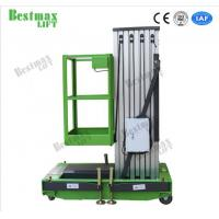 Buy cheap Portable Aluminum Aerial Work Platform Single Mast Man Lift 8 Meters Lifting Height product