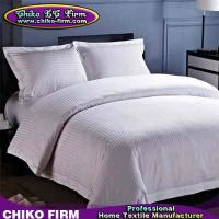 China Stripes Design 250TC-330TC Customized Hotel Duvet Cover Bed Sheet Bedding Sets on sale