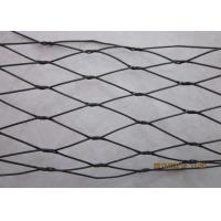 Buy cheap Flexible Black Oxide Wire Rope Mesh / Stainless Steel Cable Netting Wire Mesh product