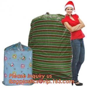 China Gift Toy Drawstring Storage Packing Bag Giant Plastic Gift Poly Santa on sale