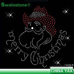 Buy cheap Christmas rhinestone motif heat transfer;rhinestone heat transfer motif product
