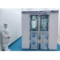 Buy cheap 100 Class Cleanroom Air Shower With Auto Double Leaf Sliding Doors product