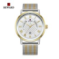 Buy cheap Mesh Strap Mens Watches Quartz Stainless Steel Mineral Crystal Glass With Date product