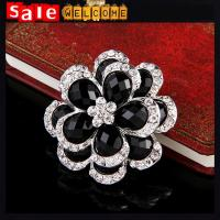 Silver austrian crystal oil drop enamel brooches amp pin jewelry wholesale