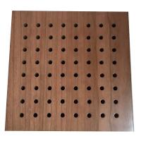 China Sound Diffuse Wall Perforated Wood Acoustic Panels Decorative Ceiling Board on sale