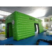 Buy cheap Green Square Inflatable Event Tent with 0.6mm - 0.9mm PVC Tarpaulin , Waterproof and Fire Resistant product