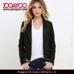 Buy cheap Latest Women Winter Coat Design Chic Black Vegan Leather Jacket product