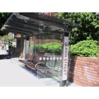 China Tempered Glass Wall Panels , Bent Tempered Glass For Public Bus Stop wholesale