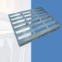 Buy cheap Heavy Duty 4 Way Galvanized Steel Pallet Holding Cargo Repairable ISO9001 from wholesalers