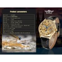 Buy cheap Gold Dial Steel Mens Wrist Watches With Gold Case 30m water proof For Boy product