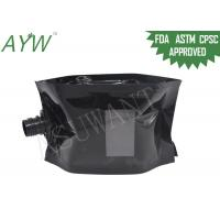 Buy cheap Glossy Black Liquid Spout Bags Clear Window For Soft Drinks / Energy Drinks product