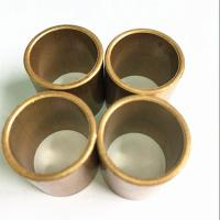 Buy cheap Durable Slide Copper Bushing For Marine Gearbox / Flanged Brass Bimetal Bush product