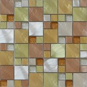 Мозаика металла смешивания кристаллического стекла Глитер идеальная для предпосылки живущей комнаты