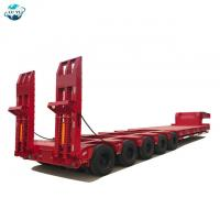 Buy cheap LUYI 5 lines 10 axles  lowbed lowboy semi trailer for large equipment product