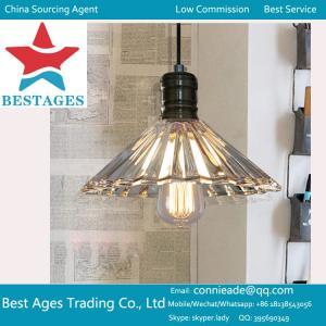 Buy cheap 型の旧式な産業中二階棒ガラス金属のペンダント灯の陰の天井灯 product