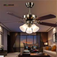 China 2015 Crystal Ceiling Fan lron ventilador de teto com cristais Modern Fan Lighting American Style Home Lamp Free Shipping on sale