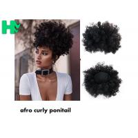 Buy cheap Black Synthetic Hair Pieces , Afro Curly Human Hair Ponytail Extensions from wholesalers