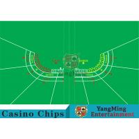 Buy cheap Polyester Fabric Casino Table Layout Can Be Folded Convenient To Carry product