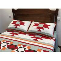 China Patchwork Geometric Bedding Sets , Quilting Handmade Twin Bed Sets For Adults on sale