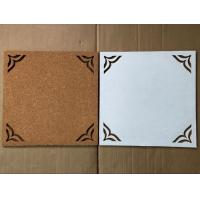 China Factory Directly Price Adhesive 12''x12'' 4 pack Cork Board with Hollowing Flower Shape in Nature Color on sale