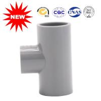 China Small Caliber Pvc Pipe Fittings Tee , UPVC Three Socket Water Supply Fittings on sale