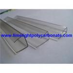 Buy cheap Pc sheet accessories/profiles, pc U-Profile, PC-U profile, pc end closure, pc end cap, pc edge product