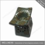 Buy cheap Retro Design Ceramic Essential Oil Burner Gray Color For Home Decoration product