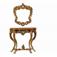 European style antique wooden console table with mirror for Antique look mirrors cheap