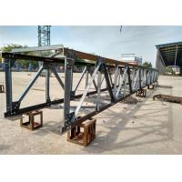 China Short Span Prefabricated Steel Pedestrian Bridges / Steel Bridge Construction on sale