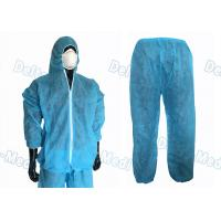 Buy cheap Waterproof Split Type Disposable Protective Coveralls Suit PP / SMS With Zip product