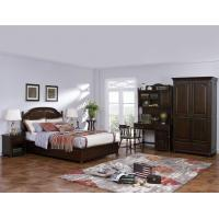 Buy cheap American Leisure Antique Design Single bedroom furniture Small bed with writing Desk and Bookcase and 2 door wardrobe product