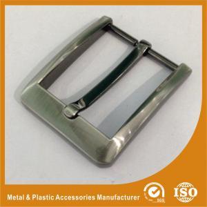 Boucles de ceinture en laiton faites sur commande des boucles de ceinture de Pin de Gunmetal grandes 40mm GLT-15003