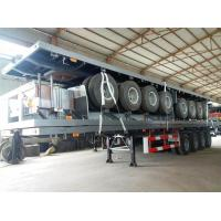 Buy cheap 4 Axles 70 Ton 40ft 45ft Flatbed Container Delivery Semi Truck Trailer , Transportation Trailer product