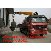 Buy cheap Heavy duty SINO TRUK 8*4 HOWO 16tons Truck with Crane,factory sale best price from wholesalers