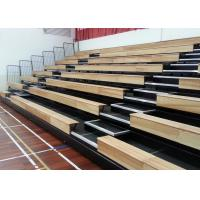 Customized Modular Grandstands Timber Bench Electrical Control Systems For Spectators