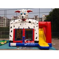 Buy cheap Outdoor N indoor spotted dog inflatable bounce house with slide for family yard parties product