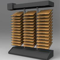 Quartz tile display stands stone display laminate for Laminate flooring displays