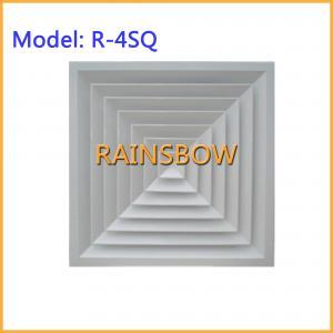 Buy cheap 4方法空気拡散器R-4SQの供給のリターン アルミニウム空気グリルの空気記録のエア・ベントのグリルの空気拡散器 product