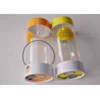 Buy cheap Small Clear Plastic Presentation Box , Personalised Clear Plastic Cups With Lids String Handle Tube Shape product