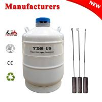 Buy cheap TIANCHI Liquid Nitrogen Cylinder 15L White Biological Container Price product