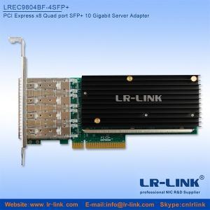 Buy cheap Adaptador del servidor del puerto SFP+ 10Gbps del patio de LREC9804BF-4SFP+ PCIe x8 (Intel XL710 basado) product