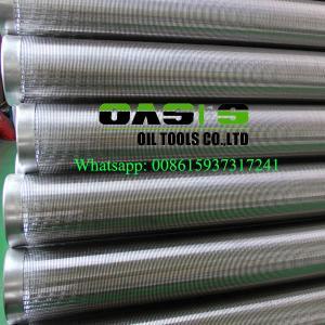 Buy cheap Tuyau d'enveloppe d'écrans de fil de cale de Johnson d'approvisionnements d'usine d'oasis/puits d'eau product