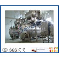 China Industrial Dairy Milk Pasteurization Equipment , 0.6MPa Bottle Steam Sterilizer on sale