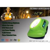 Buy cheap Green 15000 Lux Cordless Mining Lights , Oled Screen LED Mining head Light product