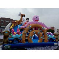 Giant Pirate Ship Inflatable Bouncer Combo Slide Sea World Themed Octopus Shark